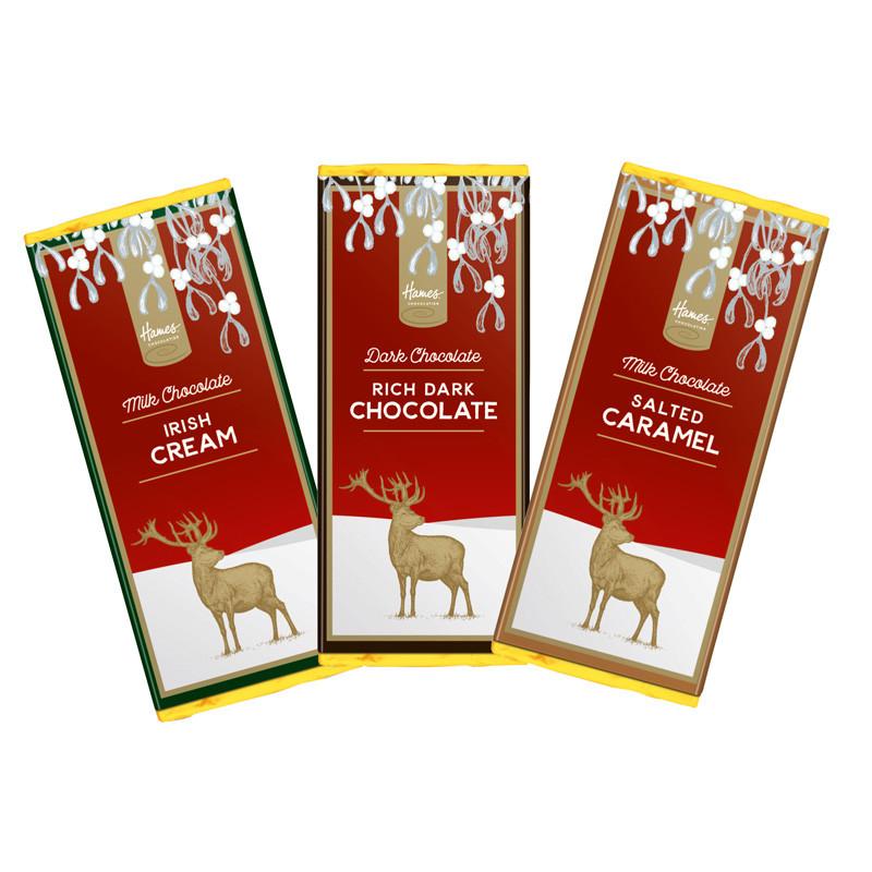 Hames Chocolate Christmas Stag Chocolate Range