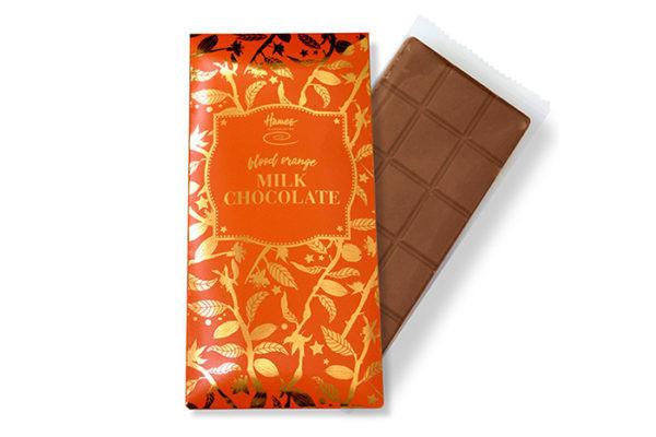 Blood Orange Chocolate Bar Part of Hames Bronze Range