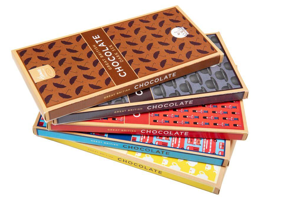 Stack of Hames Great British Chocolate Bars
