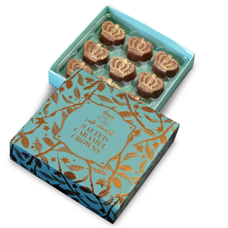 Salted Caramel Chocolate Crowns, The Bronze Range by Hames Chocolates