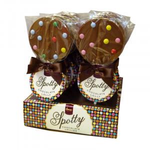 Spotty Chocolate Lollipops