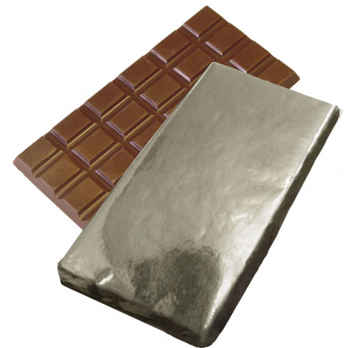 Promotional - 100g Milk Chocolate Bar Wrapped in Silver Foil