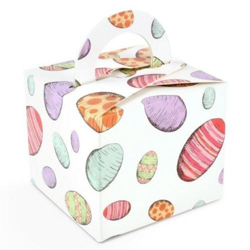Fold-Up 125g Handle Carton Only 60mm x 60mm x 60mm Egg Design