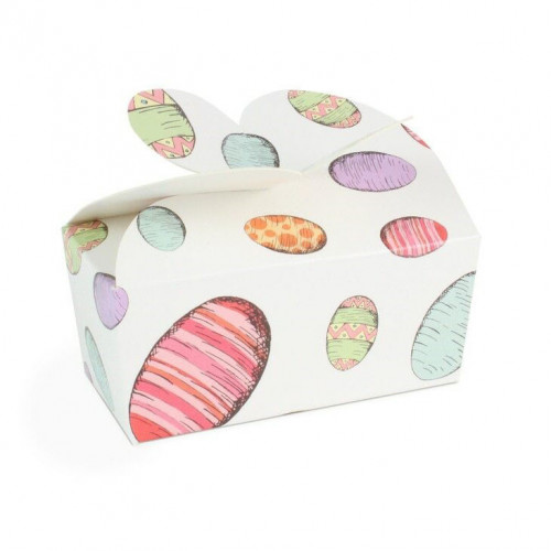 Fold-Up 2 Choc Ballotin Butterfly Top Box Only 66mm x 33mm x 31mm Egg Design