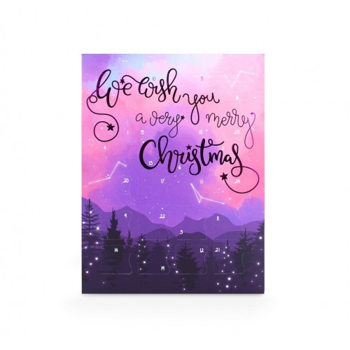 Magical Celestial Forest Finished with Purple Metallic Foil 24 Deluxe Advent Countdown Calendar (Box Only)