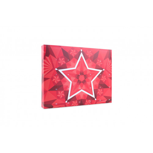 Giant 24 Door Star Design Advent Calendar with Insert Tray - H284mm x W367mm D45mm (Supplied Flat)