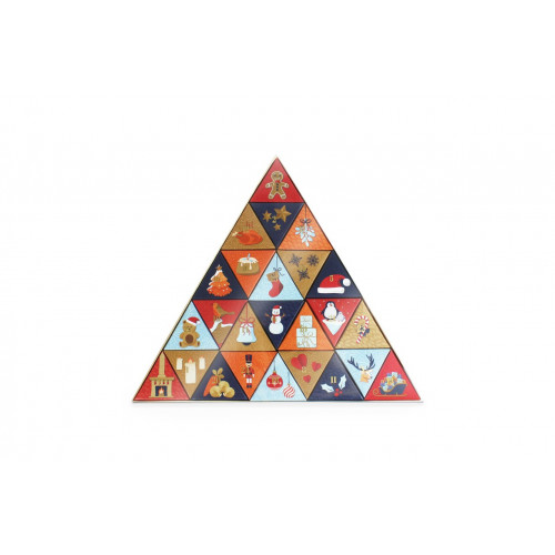 25 Day Fill It Yourself Triangular Shaped Festive Christmas Advent
