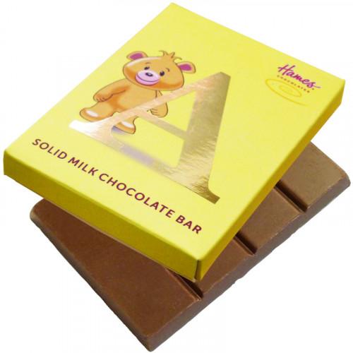 Alpha Bear Solid Milk Chocolate 50g Bar - A