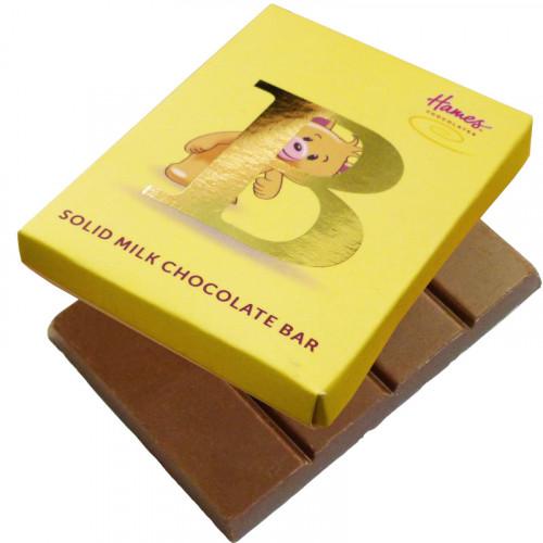 Alpha Bear Solid Milk Chocolate 50g Bar - B