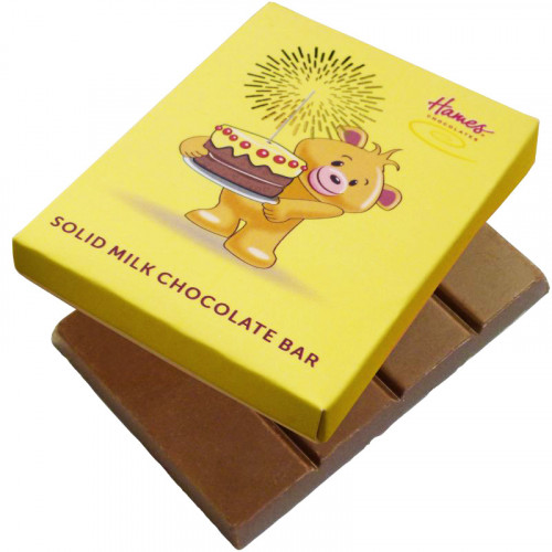 Alpha Bear Solid Milk Chocolate 50g Bar - Birthday day