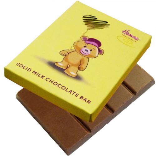 Alpha Bear Solid Milk Chocolate 50g Bar - Boy Bear