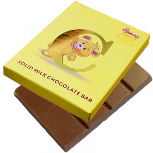 Alpha Bear Solid Milk Chocolate 50g Bar - C