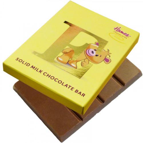 Alpha Bear Solid Milk Chocolate 50g Bar - E