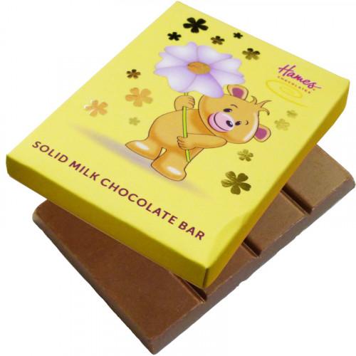 Alpha Bear Solid Milk Chocolate 50g Bar - Bear with Flower
