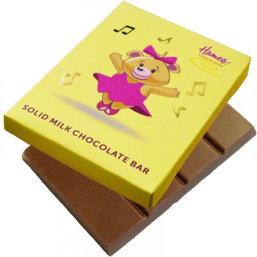 Alpha Bear Solid Milk Chocolate 50g Bar - Girl Bear