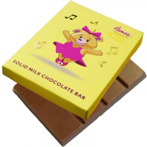 Alpha Bear Solid Milk Chocolate 50g Bar - Girl Bear