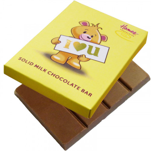 Alpha Bear Solid Milk Chocolate 50g Bar - I Heart You