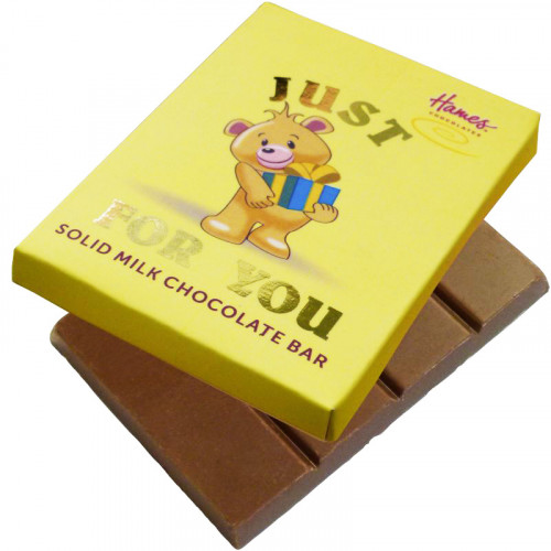 Alpha Bear Solid Milk Chocolate 50g Bar - Just For You
