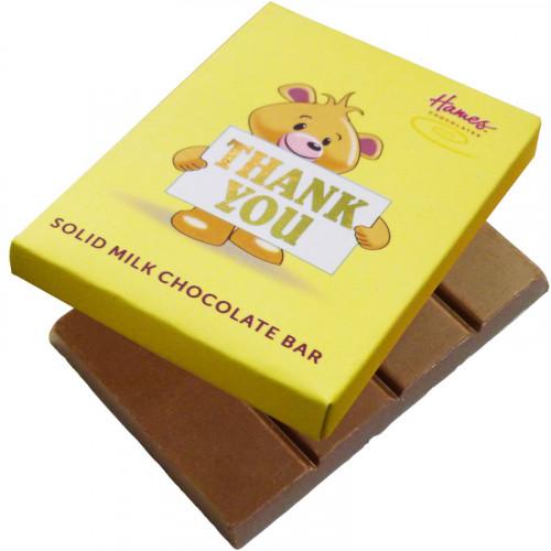 Alpha Bear Solid Milk Chocolate 50g Bar - Thank You