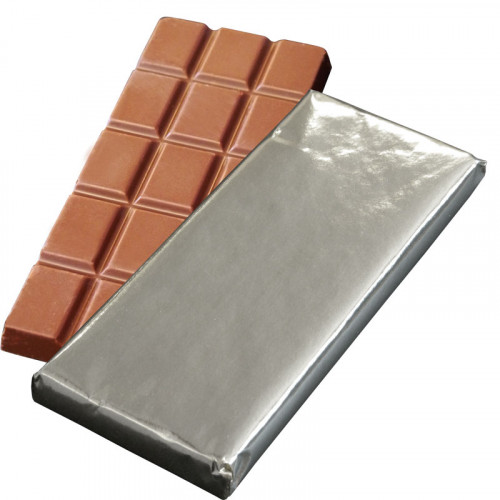 Promotional - 50g Milk Chocolate Bar Wrapped in Silver Foil