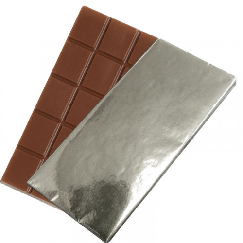 Promotional - 80g Milk Chocolate Bar Wrapped in Silver Foil