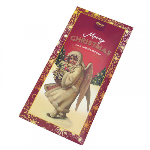 Victorian Christmas - 80g Milk Chocolate Bar Presented in a Card Sleeve with a Victorian Angel Design