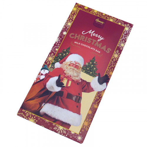 Victorian Christmas - 80g Milk Chocolate Bar Presented in a Card Sleeve with a Victorian Santa Design