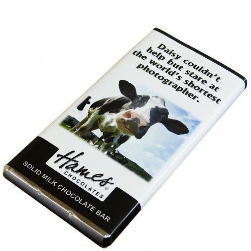 Animals with Attitude - 80g Milk Chocolate Bar Wrapped in Silver Foil Finished with a Themed Chuckle Cow Wrapper x Outer of 12