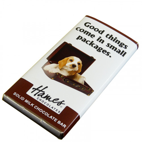 Animals with Attitude - 80g Milk Chocolate Bar Wrapped in Silver Foil Finished with a Themed Chuckle Dog Wrapper x Outer of 12