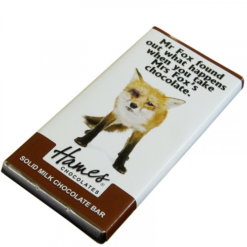 Animals with Attitude - 80g Milk Chocolate Bar Wrapped in Silver Foil Finished with a Themed Chuckle Fox Wrapper  x Outer of 12