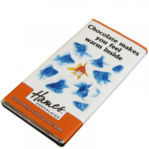Animals with Attitude - 80g Milk Chocolate Bar Wrapped in Silver Foil Finished with a Themed Chuckle Goldfish Wrapper x Outer of 12