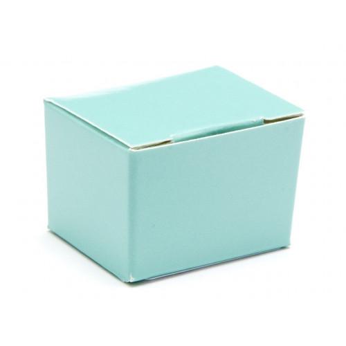 Fold-Up 1 Choc Ballotin Flat Top Box Only 37mm x 33mm x 31mm in Aqua
