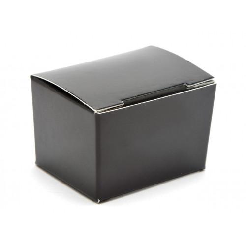 Fold-Up 1 Choc Ballotin Flat Top Box Only 37mm x 33mm x 31mm in Black