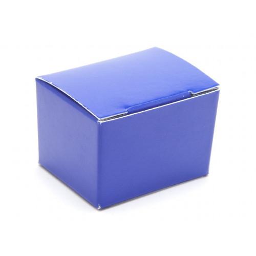 Fold-Up 1 Choc Ballotin Flat Top Box Only 37mm x 33mm x 31mm in Blue