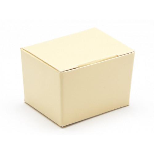 Fold-Up 1 Choc Ballotin Flat Top Box Only 37mm x 33mm x 31mm in Cream