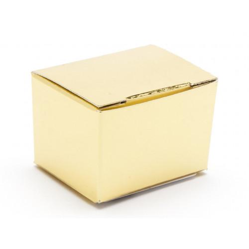 Fold-Up 1 Choc Ballotin Flat Top Box Only 37mm x 33mm x 31mm in Gold