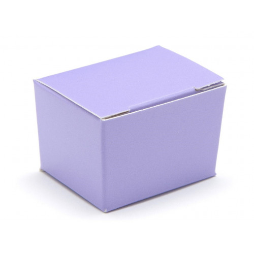 Fold-Up 1 Choc Ballotin Flat Top Box Only 37mm x 33mm x 31mm in Lilac