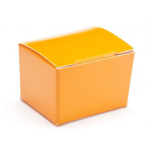 Fold-Up 1 Choc Ballotin Flat Top Box Only 37mm x 33mm x 31mm in Orange