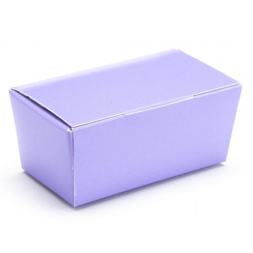 Ready-Assembled 2 Choc Ballotin Flat Top Box Only 66mm x 33mm x 31mm in Lilac