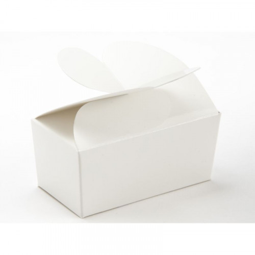 Attractive Fold-Up 2 Choc Ballotin Butterfly Top Box Only 66mm x 33mm x 31mm ideal for Chocolate, Truffles or Confectionery