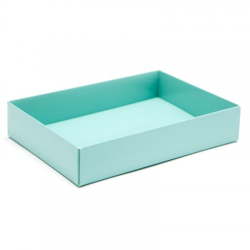 Fold-Up 12 Chocolate Box Base Only 159mm x 112mm x 32mm in Aqua