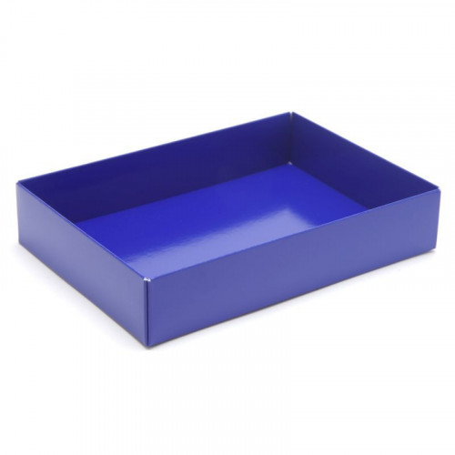 Fold-Up 12 Chocolate Box Base Only 159mm x 112mm x 32mm in Blue