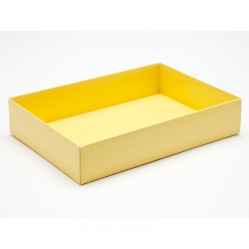 Fold-Up 12 Chocolate Box Base Only 159mm x 112mm x 32mm in Buttermilk Yellow