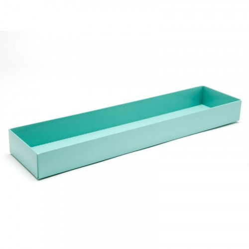 Fold-Up 16 Chocolate Box Base Only 159mm x 310mm x 82mm x 32mm in Aqua