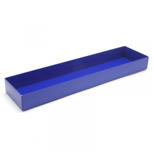 Fold-Up 16 Chocolate Box Base Only 310mm x 82mm x 32mm in Blue