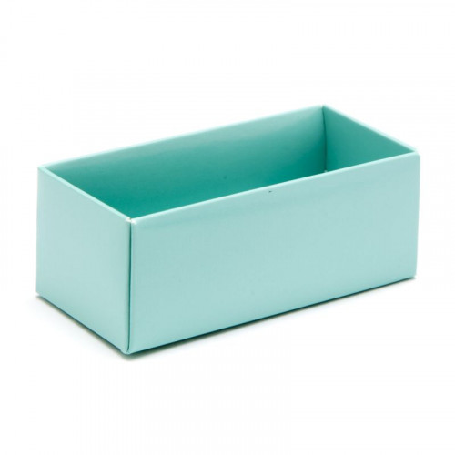 Fold-up 2 Chocolate Box Base Only 78mm x 41mm x 32mm in Aqua