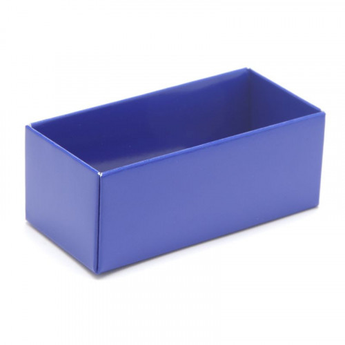 Fold-up 2 Chocolate Box Base Only 78mm x 41mm x 32mm in Blue