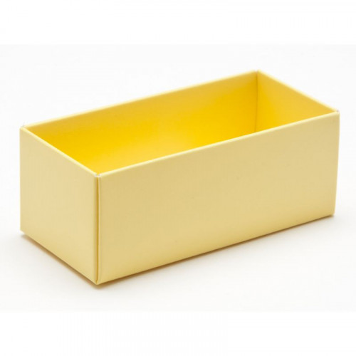 Fold-Up 2 Chocolate Box Base Only 78mm x 41mm x 32mm in Buttermilk Yellow