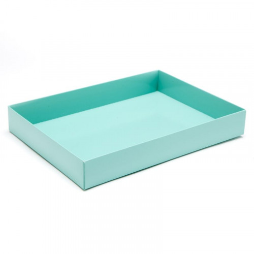 Fold-Up 24 Chocolate Box Base Only 221mm x 159mm x 32mm in Aqua