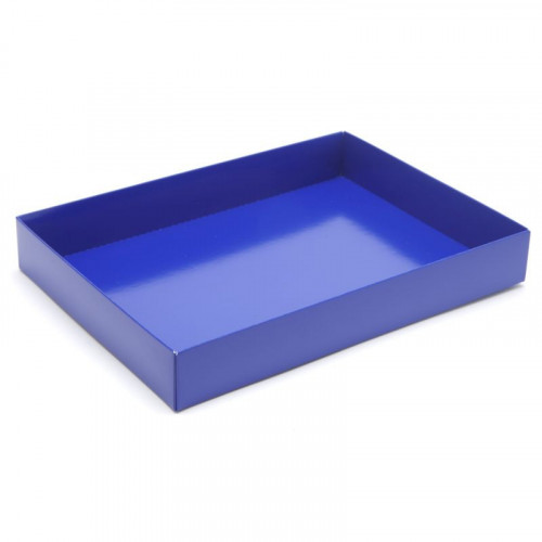 Fold-Up 24 Chocolate Box Base Only 221mm x 159mm x 32mm in Blue